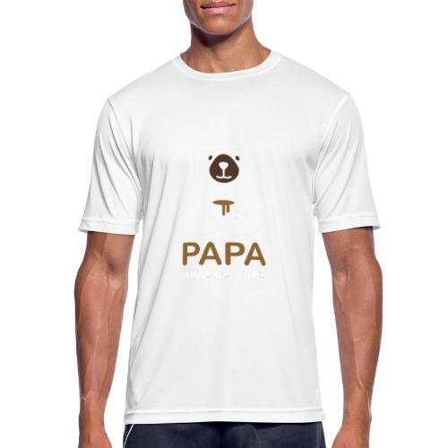 Papa aime le café noir - T-shirt respirant Homme