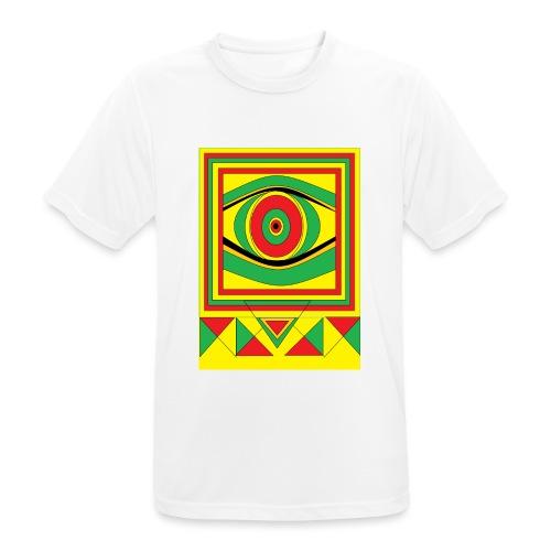 ALL seeing eye RASTA burn down babylon Original - Mannen T-shirt ademend actief
