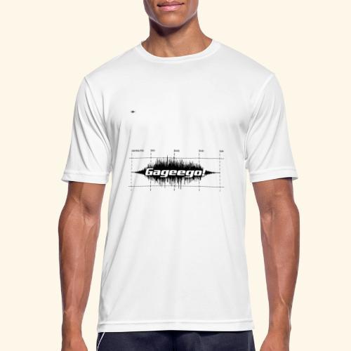 Gageego logga vit text - Andningsaktiv T-shirt herr
