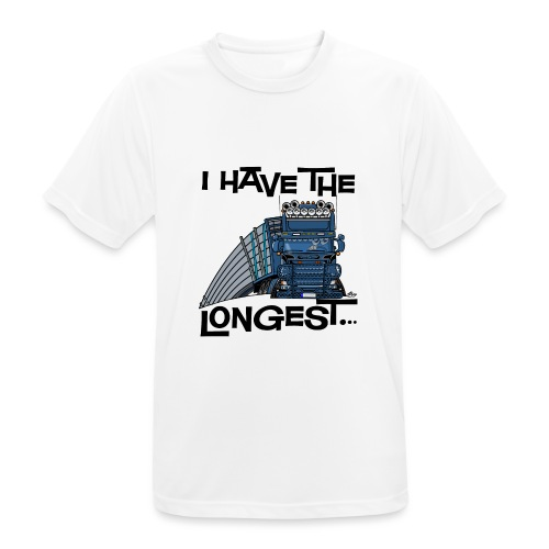 0780 S Truck I have the longest loads (FRONT+BACK) - Mannen T-shirt ademend