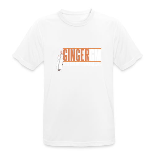Ginger GM White Logo - Men's Breathable T-Shirt
