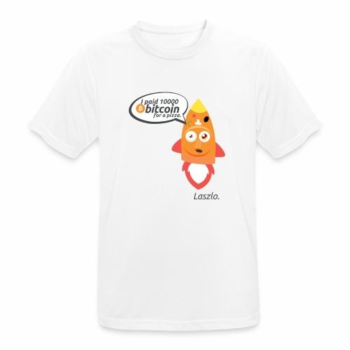 #BitcoinPizzaDay slice - Maglietta da uomo traspirante