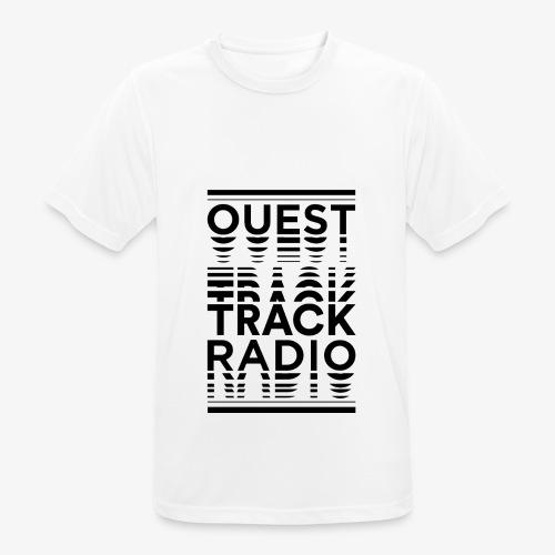 Logo Vertical Grand Noir - T-shirt respirant Homme
