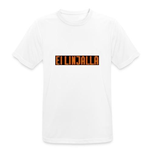 EI LINJALLA - miesten tekninen t-paita