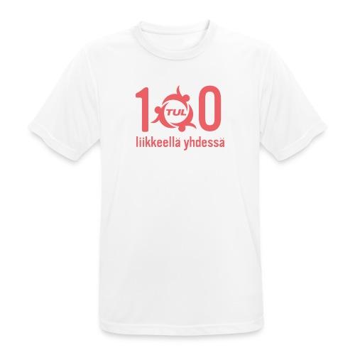 TUL100, punainen logopainatus - miesten tekninen t-paita
