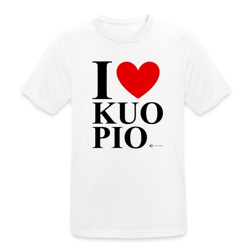 I LOVE KUOPIO ORIGINAL (musta) - miesten tekninen t-paita