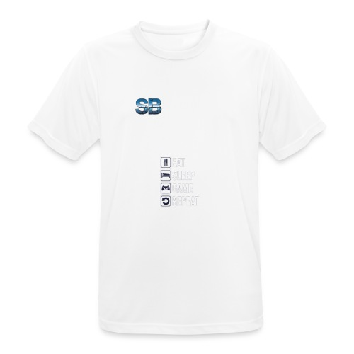 Eat Sleep Game Repeat - Herre T-shirt svedtransporterende
