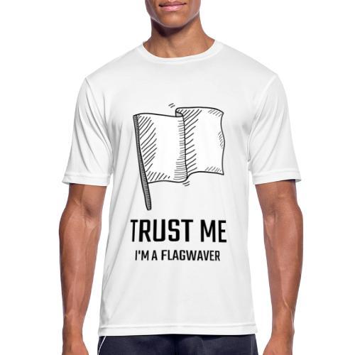 Trust me flag - Maglietta da uomo traspirante