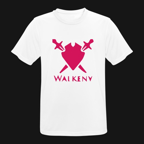 Das Walkeny Logo mit dem Schwert in PINK! - Männer T-Shirt atmungsaktiv