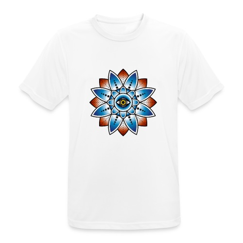 Psychedelisches Mandala mit Auge - Männer T-Shirt atmungsaktiv