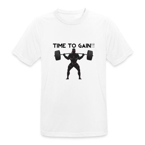 TIME TO GAIN! by @onlybodygains - Men's Breathable T-Shirt