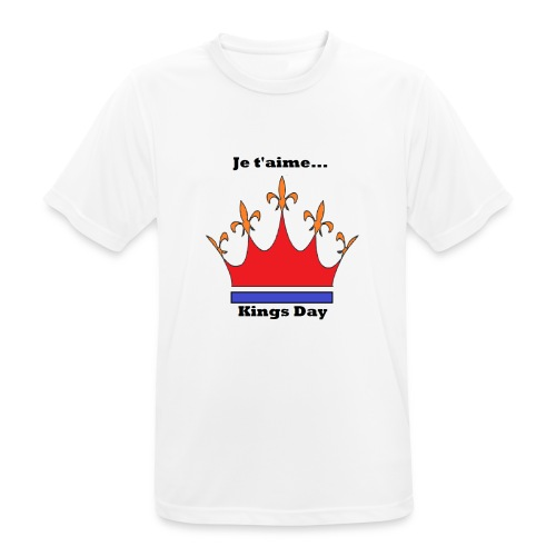 Je taime Kings Day (Je suis...) - Mannen T-shirt ademend