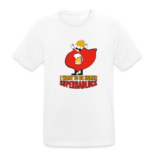 superbadluck - HOMER - Maglietta da uomo traspirante