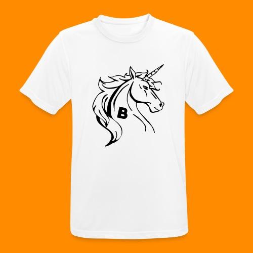 the biodusty unicorn mousepad - Mannen T-shirt ademend actief