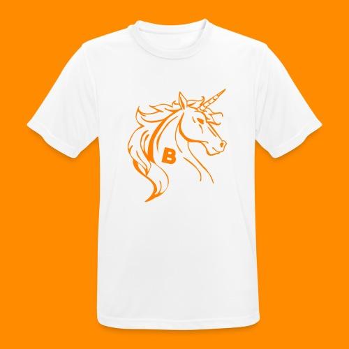 orange biodusty unicorn shirt - Mannen T-shirt ademend actief