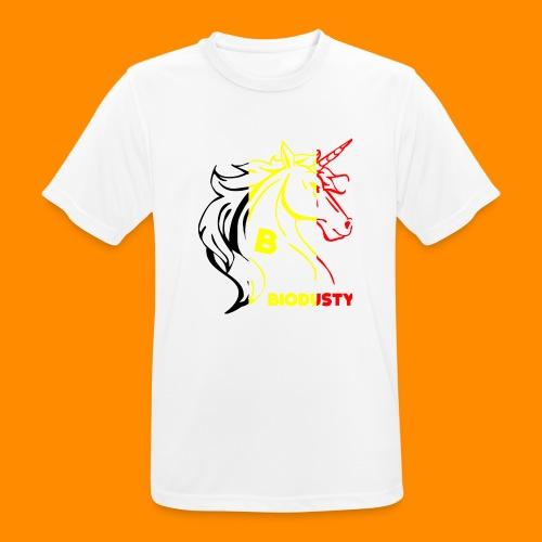 belgian biodusty unicorn hoodie unisex - Mannen T-shirt ademend