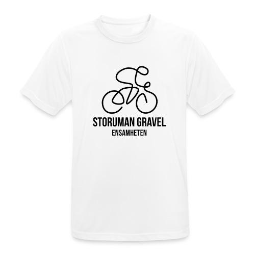 Storuman Gravel / Svart - Andningsaktiv T-shirt herr