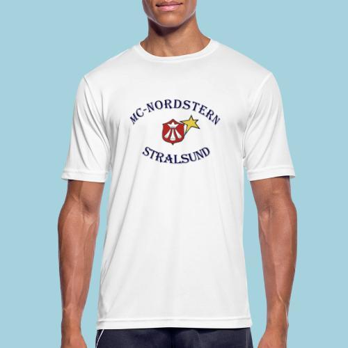 MC Nordstern Schrift gebogen - Männer T-Shirt atmungsaktiv