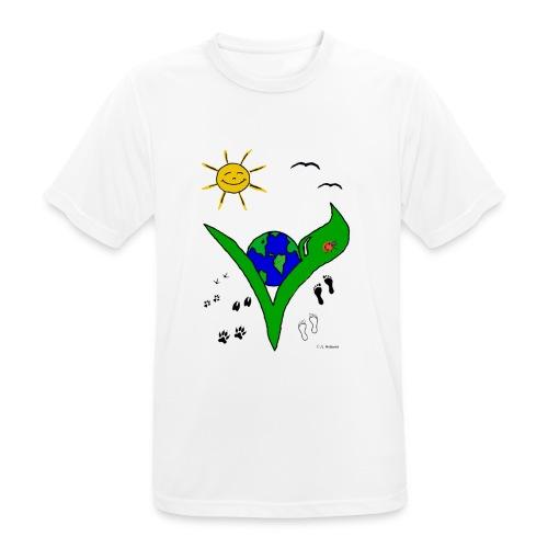 Ein Logo geht um die Welt - Männer T-Shirt atmungsaktiv