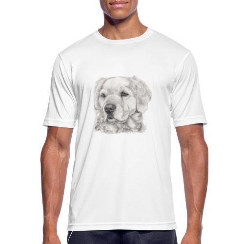 golden retriever - Herre T-shirt svedtransporterende