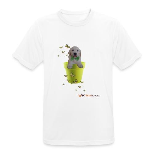 Cucciolo Golden Retriever in-vaso dalle farfalle - Maglietta da uomo traspirante