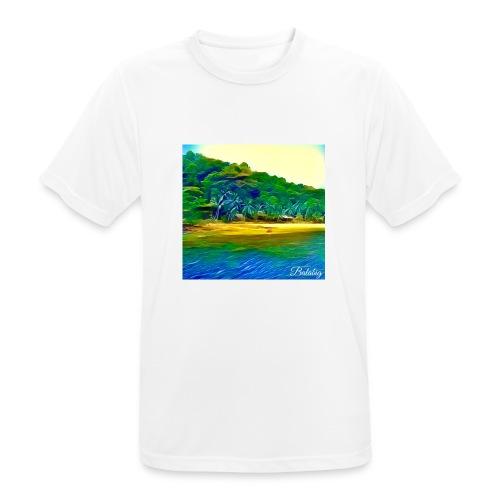 Tropical beach - Maglietta da uomo traspirante