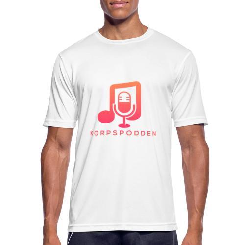 Korpspodden - Pustende T-skjorte for menn