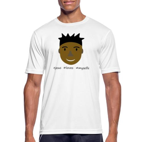 jesus loves myselfie - Männer T-Shirt atmungsaktiv