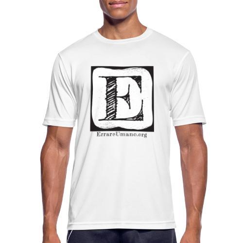 Logo ErrareUmano (scritta nera) - Maglietta da uomo traspirante