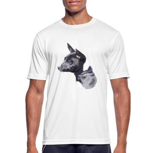 basenji black - Herre T-shirt svedtransporterende