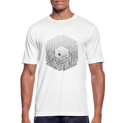 Winter Design Schnee Wald Skiing Sechseck - Männer T-Shirt atmungsaktiv