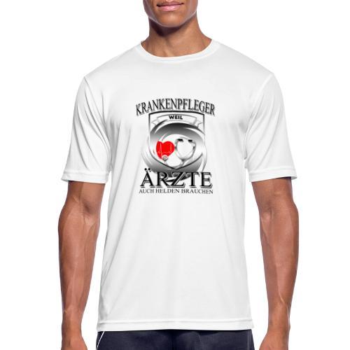 Krankenpfleger weil Ärzte auch Helden brauchen - Männer T-Shirt atmungsaktiv