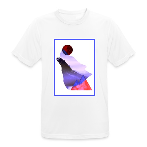 Måne Ulv - Laurids B Design - Herre T-shirt svedtransporterende