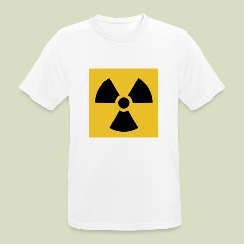 Radiation warning - miesten tekninen t-paita
