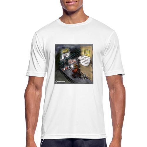 Cartoon SmartZone Ende der Ausbaustrecke - Männer T-Shirt atmungsaktiv