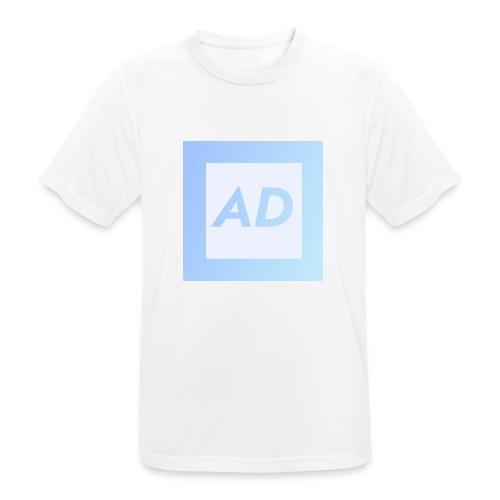 Blue Logo - Men's Breathable T-Shirt