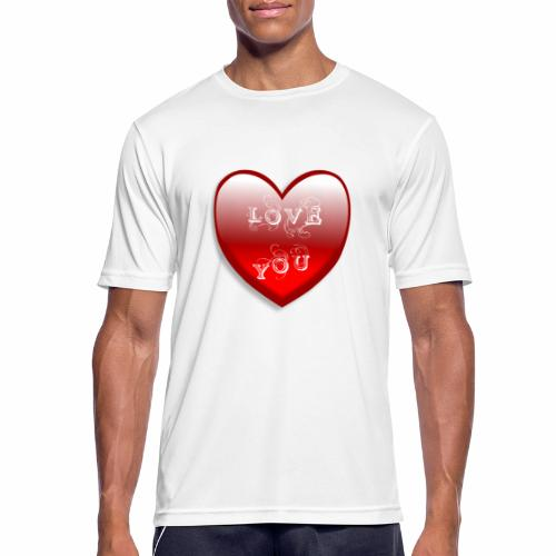 Love You - Männer T-Shirt atmungsaktiv