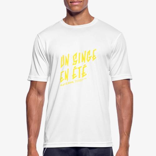 LOGO baseline jaune - T-shirt respirant Homme