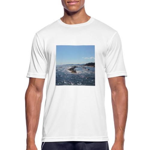 Mer avec roches - T-shirt respirant Homme