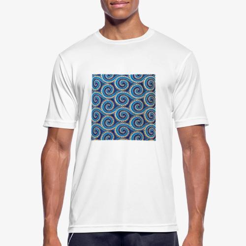 Spirales au motif bleu - T-shirt respirant Homme