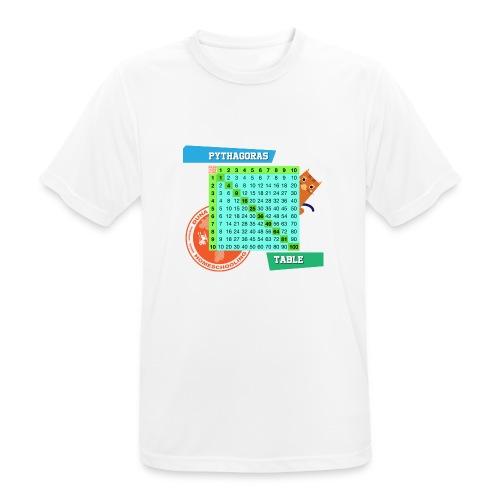 Pythagoras table - Pustende T-skjorte for menn