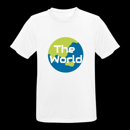 The World Earth - Herre T-shirt svedtransporterende