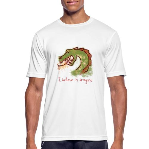 I believe in dragons - Men's Breathable T-Shirt