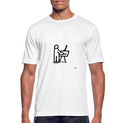 white man pittore - Maglietta da uomo traspirante