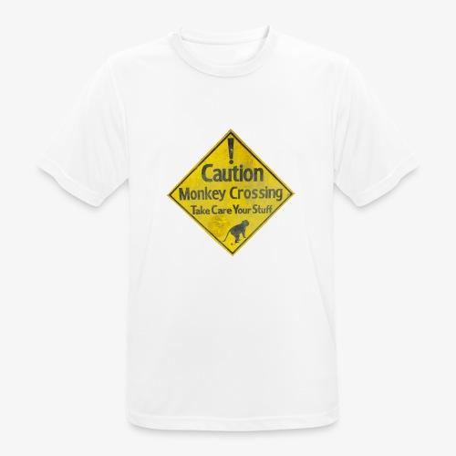 Caution Monkey Crossing - Männer T-Shirt atmungsaktiv