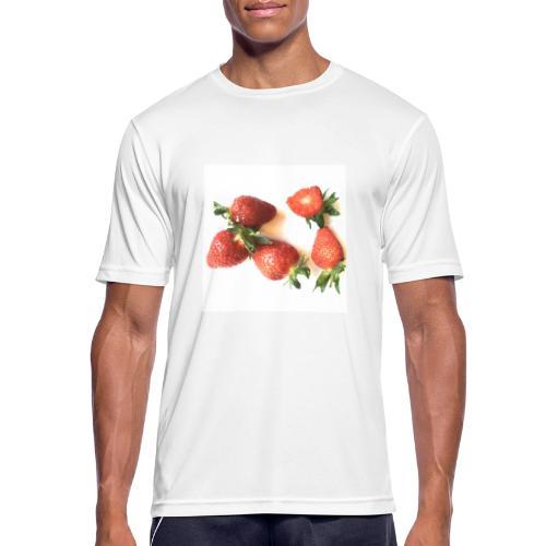 Rode Erdbeern - Männer T-Shirt atmungsaktiv