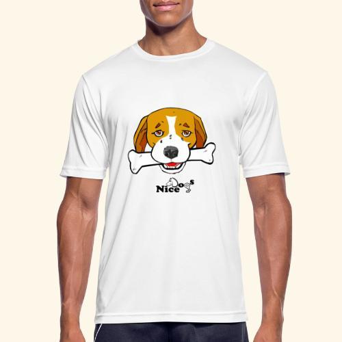 Nice Dogs Semolino - Maglietta da uomo traspirante