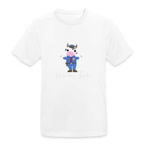 Una Vaca Vestida de Uniforme - Camiseta hombre transpirable