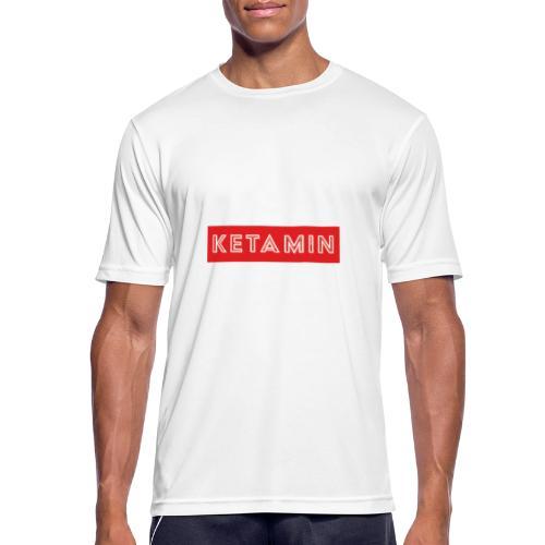 KETAMIN Rock Star - Weiß/Rot - Modern - Men's Breathable T-Shirt