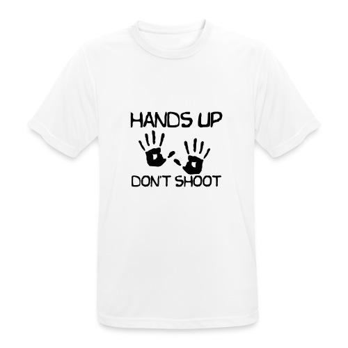 Hands Up Don't Shoot (Black Lives Matter) - Mannen T-shirt ademend actief